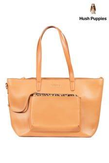 Hush Puppies Orange Sadie Leopard Tote Bag
