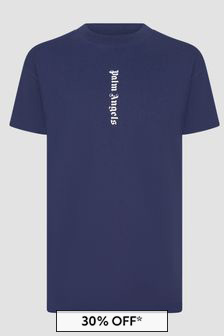 Palm Angels Girls Navy T-Shirt