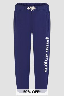 Palm Angels Girls Navy Joggers