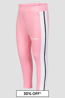 Palm Angels Girls Pink Leggings