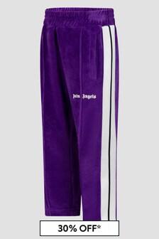 Palm Angels Girls Purple Joggers