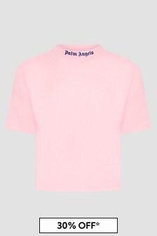 Palm Angels Girls Pink T-Shirt