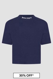 Palm Angels Boys Navy T-Shirt