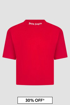 Palm Angels Boys Red T-Shirt