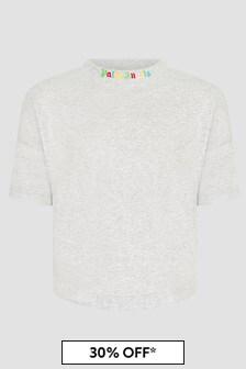 Palm Angels Boys Grey T-Shirt