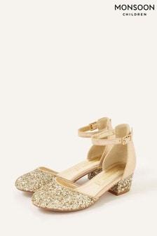 Monsoon Gold Mix Glitter Two-Part Heels