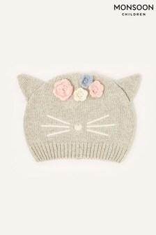 Monsoon Grey Baby Luna Cat Beanie