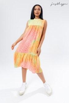 Hype. Women's Yellow Rainbow Dalmation Hoborn Dress