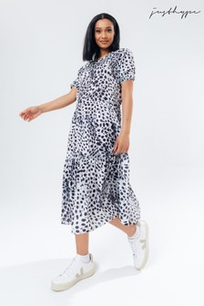 Hype. Women's Black Dalmation Sack Malmo Dress