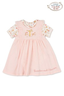 Guess How Much I Love You Pink 2 Piece Dress & Bodysuit Set