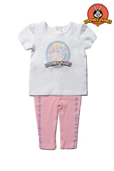 Looney Tunes Bugs Bunny Pink 2 Piece T-Shirt & Legging Set