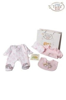 Guess How Much I Love You Pink 6 Piece Babygrow And Book Set