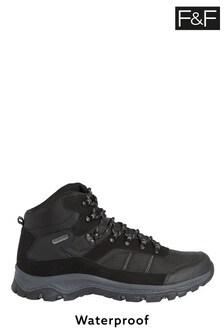 F&F Black Waterproof High Hiker Boots