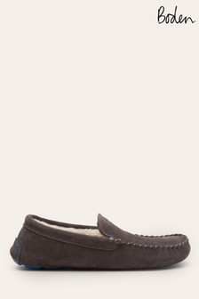 Boden Grey Moccasin Slippers