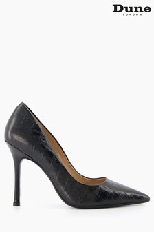 Dune London Black Belaire Pointed Toe Court Shoes