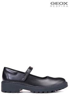 Geox Black Casey Girls Shoes