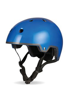 Micro Scooters Metallic Blue Classic Curved Helmet