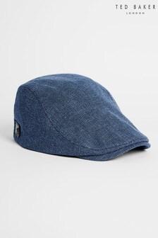 Ted Baker Blue Herbs Textured Flat Cap