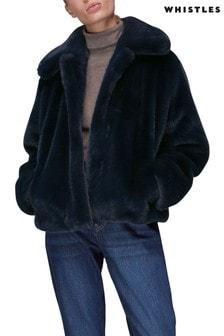Whistles Drew Faux Fur Coat