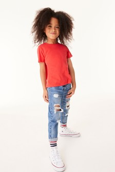 Distressed Mom Jeans (3-16yrs)