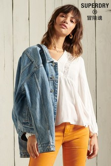 Superdry White Jenny Lace Top