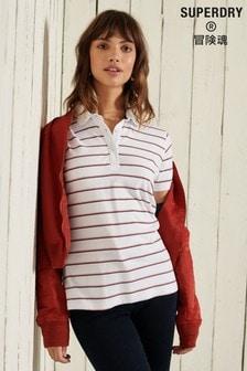Superdry Natural Organic Cotton Academy Stripe Polo Shirt