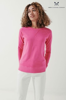 Crew Clothing Company Pink Pigment Dyed Sweatshirt