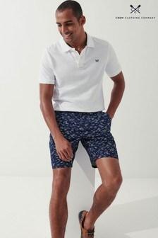 Crew Clothing Company Blue Printed Bermuda Shorts