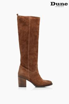Dune London Troop Mid Block Heel Knee High Boots