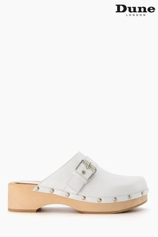 Dune London Gizeles Buckle Detailed Closed Toe Clogs