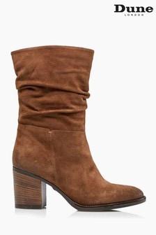 Dune London Black Rosa Slouch Heeled Calf Boots