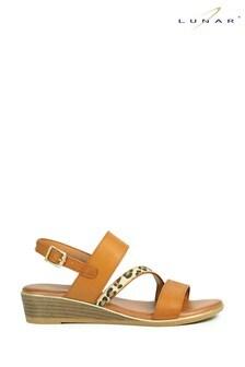 Lunar Brown Jessica Wedge Sandals