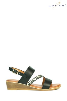 Lunar Black Jessica Wedge Sandals