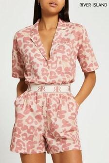 River Island Leopard Cotton Shorts