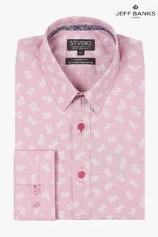 Jeff Banks Pink Long-Sleeve Floral Print Shirt