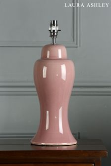 Dark Blush Pink Regina Crackle Grazed Ceramic Table Lamp Base