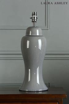Pale Slate Grey Regina Crackle Grazed Ceramic Table Lamp Base