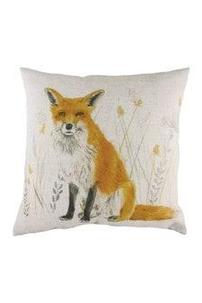 Evans Lichfield White Fox Cushion