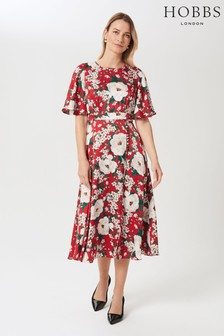 Hobbs Red Bella Floral Dress