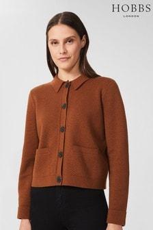 Hobbs Brown Mia Knitted Jacket