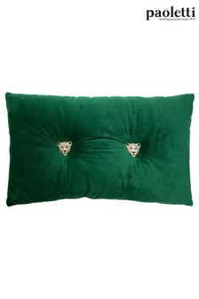 Riva Paoletti Emerald Green Panther Cushion