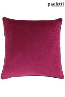 Riva Paoletti Cranberry Red Meridian Cushion