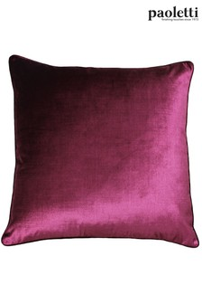 Riva Paoletti Cranberry Red Luxe Velvet Cushion