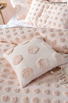 Linen House Peach Haze Cushion
