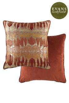 Evans Lichfield Terracotta Inca Cushion
