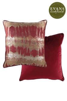 Evans Lichfield Burgundy Inca Cushion