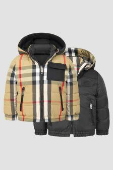 Burberry Kids Boys Beige Reversible Jacket