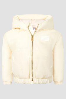 Burberry Kids Baby Girls Cream Jacket