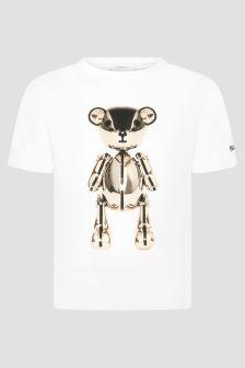Burberry Kids Unisex White T-Shirt