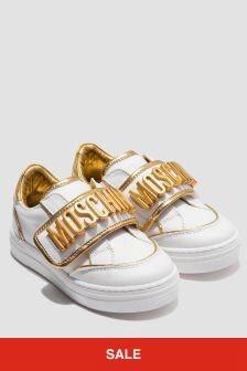 Moschino Kids Girls White Trainers